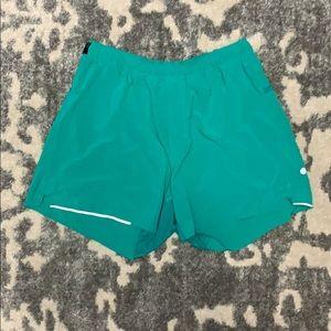 Lululemon Athletica Turquoise 5 in Surge Short L
